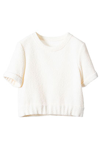 [Houghton]<br>Sleeved Tops-White
