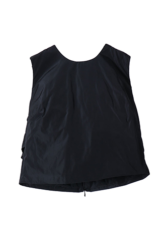 [Khoon Hooi]<br>Short Simple Top-Black