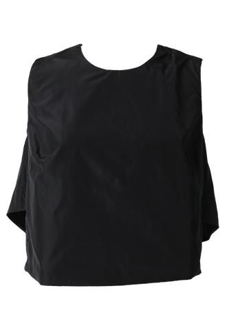 [Khoon Hooi]<br>Short Simple Top-Black