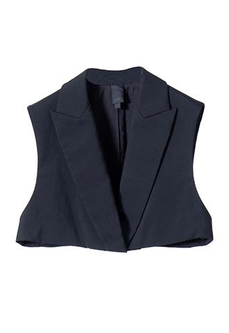 [Vera Wang]<br>Short vest-Black