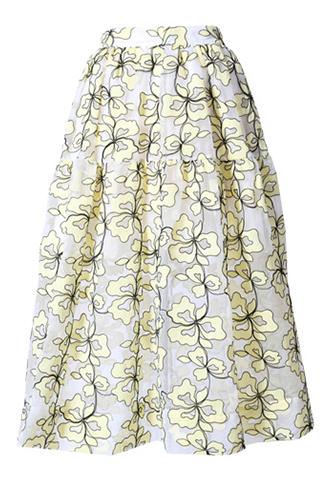 [Maje]<br>Embroidered Skirt-Yellow