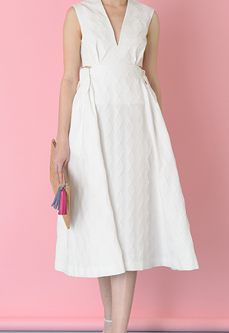 [Delpozo]<br>Double Knot Dress-White