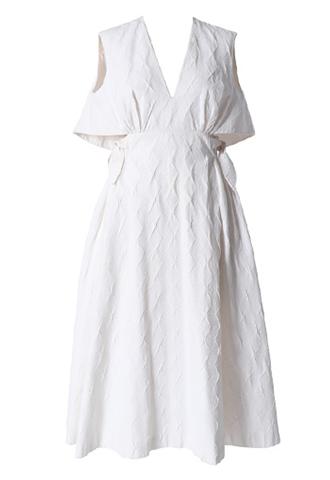 [Delpozo]<br>Double Knot Dress-White