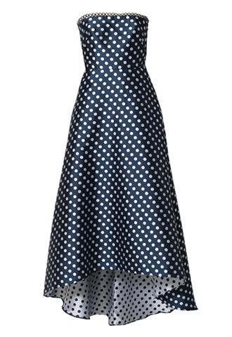 [ML Monique Lhuillier]<br>Polka Dot Dress-Navy
