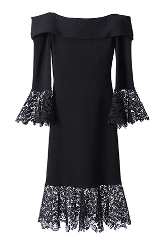[Sachin&Babi]<br>Long Sleeve Dress-Black
