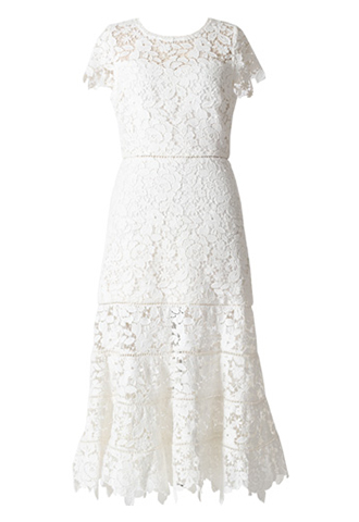 [Joie]<br>Lace Dress-White