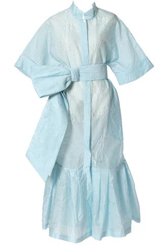 [Khoon Hooi]<br>シャツ ドレス-ブルー