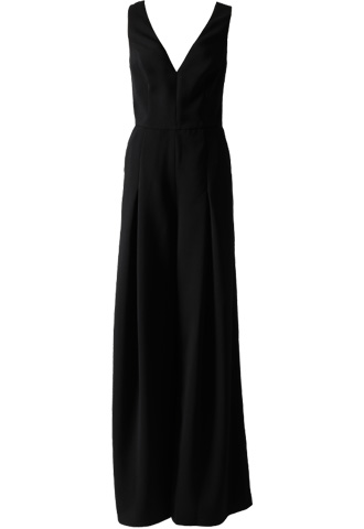 [AMSALE]<br>Sheer back Jumpsuit Short Length-Black