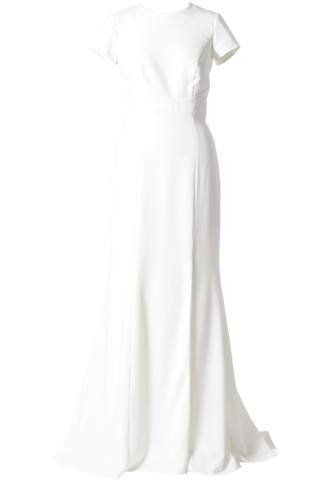 [AMSALE]<br>Open Back Long  Dress-White