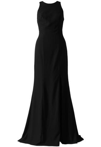 [AMSALE]<br>Wide Cross Strap Long Dress (36)-Black