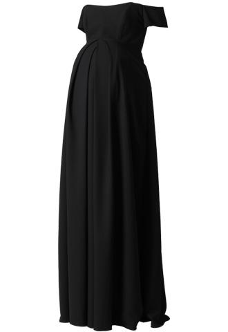 [Amsale]<br>マタニティー ロングドレス-ブラック