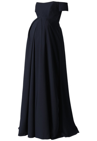 [AMSALE]<br>Maternity Dress-Navy