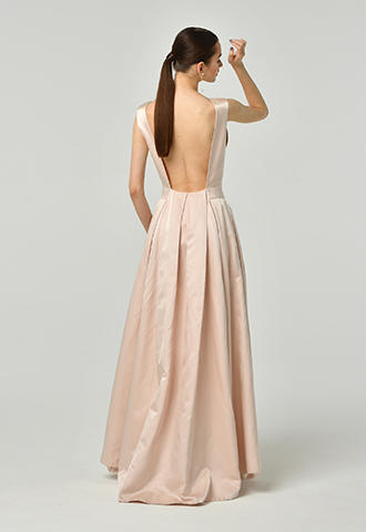 [Katie Ermilio]<br>Silk Long Dress-Pink