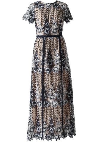 [ML Monique Lhuillier]<br>Lace Full Length Dress