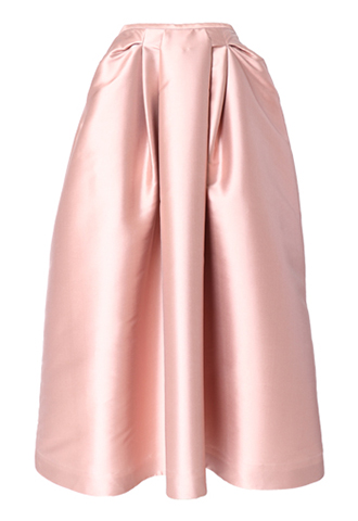 [Khoon Hooi]<br>Silk Taffeta Long Skirt