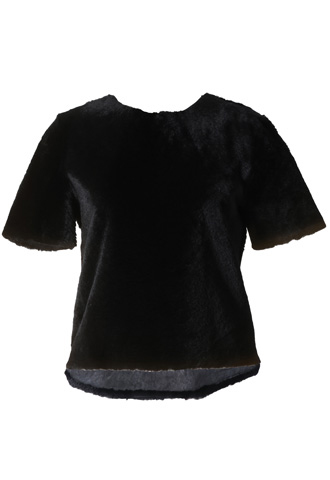 [Katie Ermilio]<br>Real Fur Top-Black