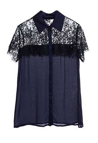 【HOUGHTON】LACE BLOUSE