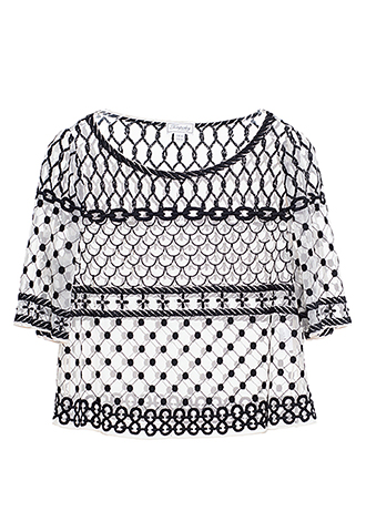 【Temperley London】EMBROIDERED TULLE TOP
