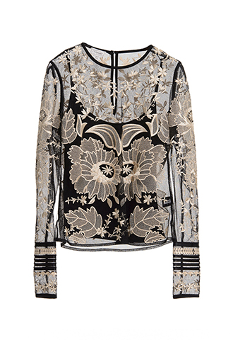 【Temperley London】EMBROIDERED LONG SLAVED TOPS