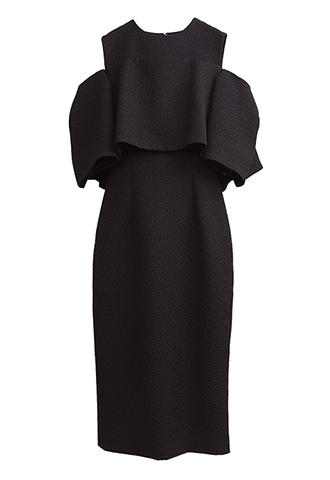 【Monique Lhuillier】SHOULDER DESIGN DRESS