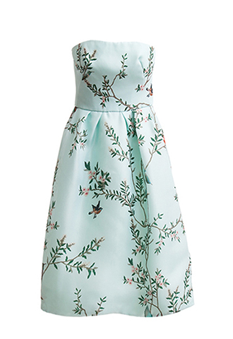【Monique Lhuillier】BIRD PRINT DRESS