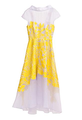 【Lela Rose】FLOWER EMBROIDERY DRESS