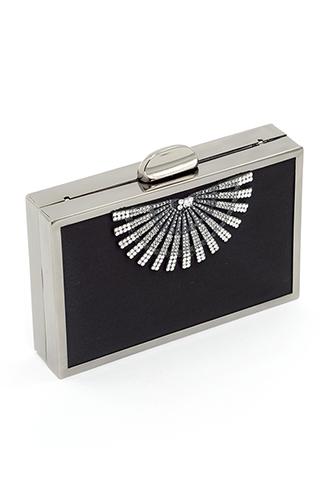 [Whiting&Davis]<br>Jeweled Clutch Bag-Black