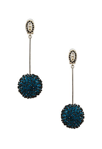 【Lela Rose】BEADED BAUBLE EARRINGS